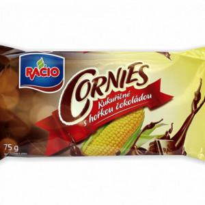 Racio - Cornies - kukuřičné chlebíčky s hořkou čokoládou 75g