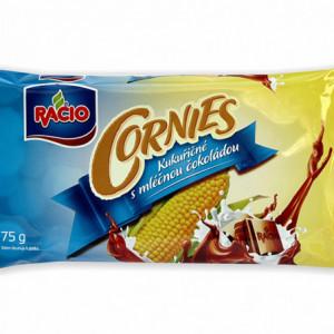Racio - Cornies - kukuřičné chlebíčky s mléčnou čokoládou 75g