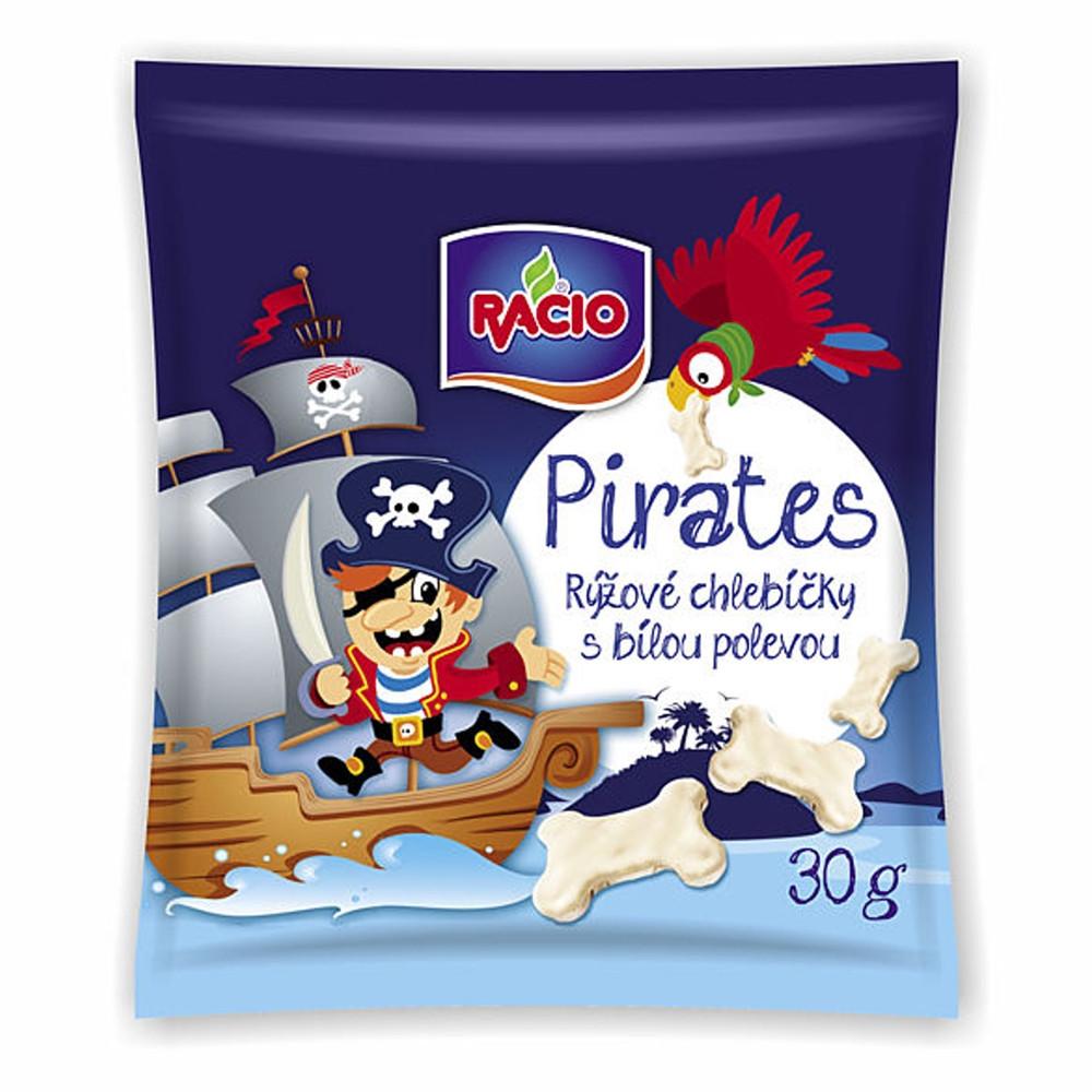 Racio - Pirates - rýžové chlebíčky s bílou polevou 30g