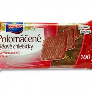 Racio - polomáčené rýžové chlebíčky v čokoládové polevě 100g