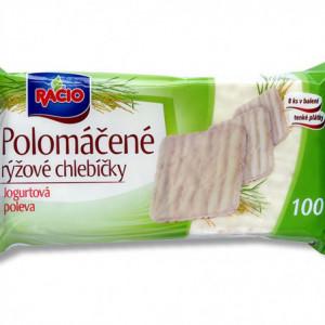 Racio - polomáčené rýžové chlebíčky v jogurtové polevě 100g