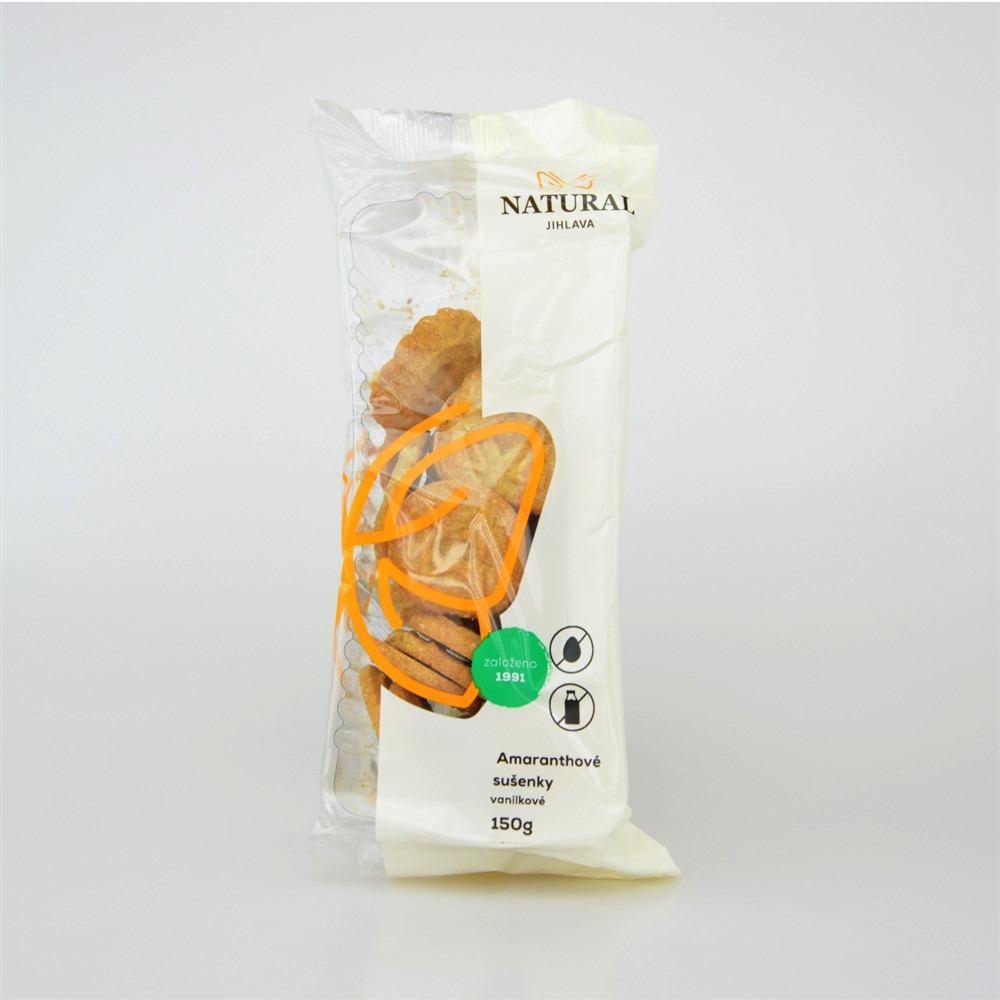 Sušenky amaranthové vanilkové celozrnné bez vajec a mléka - Natural 150g