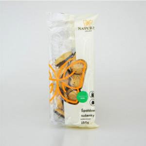 Sušenky špaldové celozrnné polomáčené bez vajec a mléka - Natural 150g