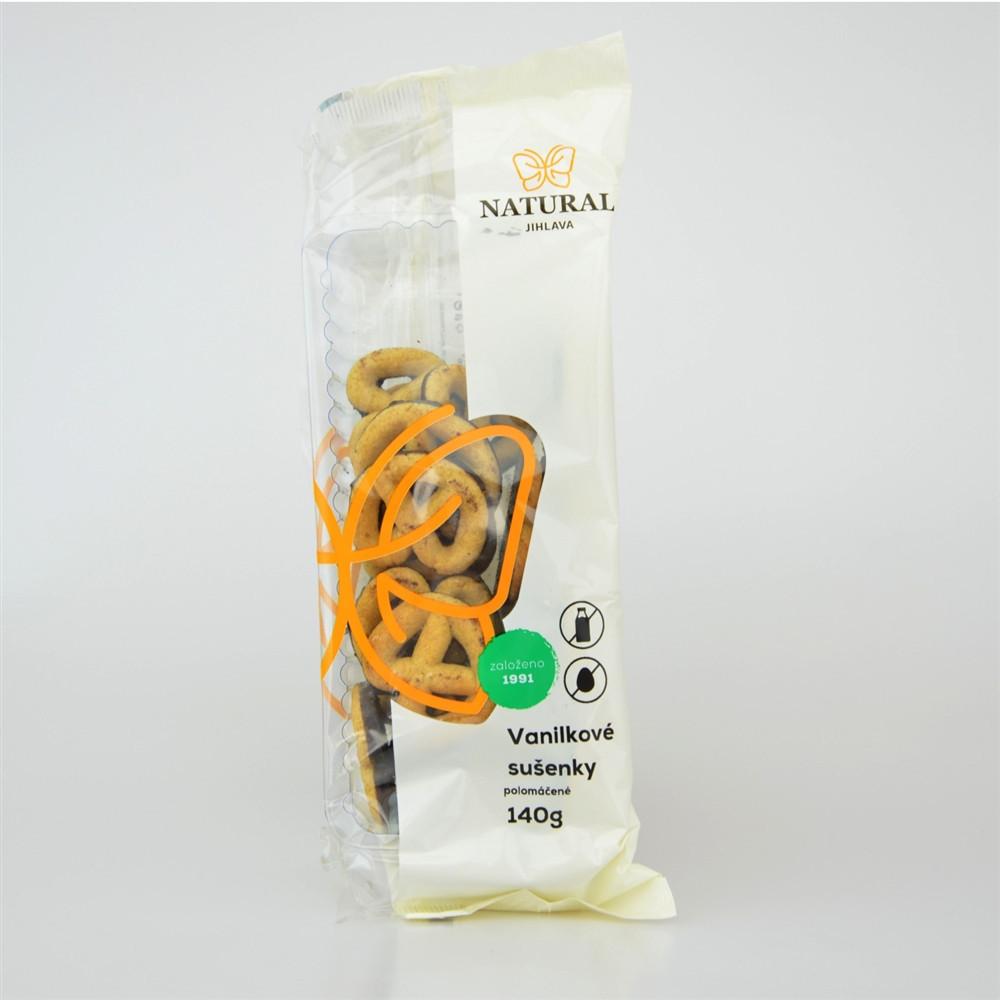 Sušenky vanilkové polomáčené bez mléka a vajec - Natural 140g